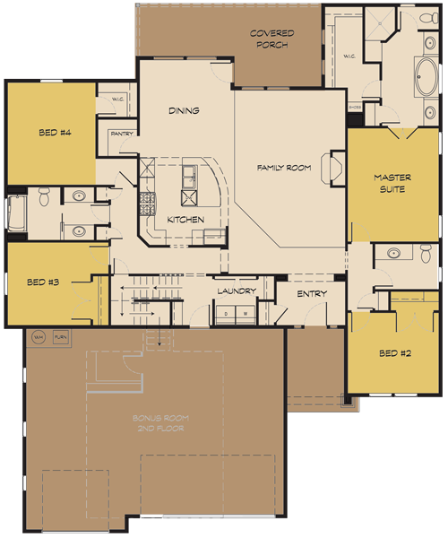 The aspen ii for Idaho home plans